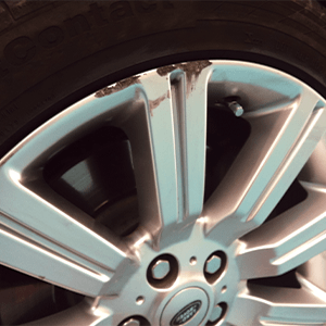 Scratched Alloy Rims Before Shot