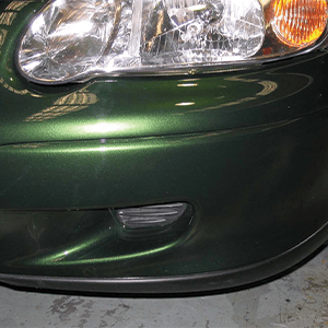 Car Bumper Scratch After Treatment