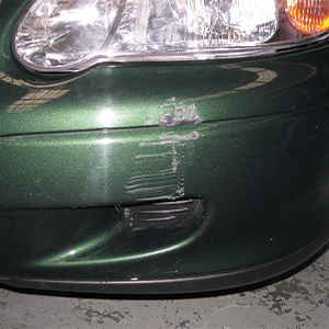Car Bumper Scratch Before Treatment
