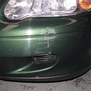 Car Bumper Scratch Before Treatment